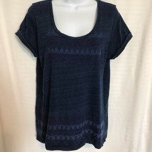 LUCKY BRAND embroidery T-shirt